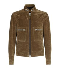 Tom Ford Suede Jacket Male Brown