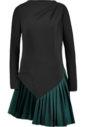 Vionnet Cady And Wool Twill Tunic Black