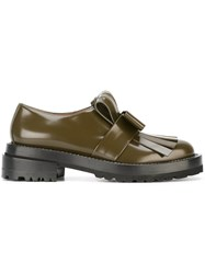 Marni Fringed Loafers Green
