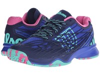 Wilson Kaos Blue Iris Navy Pink Women's Tennis Shoes