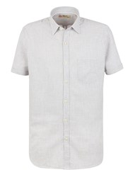 Gibson Pattern Tailored Fit Classic Collar Shirt White