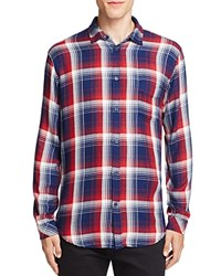 Rails Lennox Plaid Regular Fit Button Down Shirt Navy Red White
