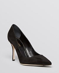 Sergio Rossi Godiva Pointed Toe High Heel Pumps Nero