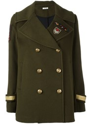 P.A.R.O.S.H. 'Lusi' Military Jacket Green
