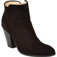 Barneys New York Daddy Point Toe Ankle Boots Black