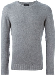 Les Hommes Cashmere Sweater Grey