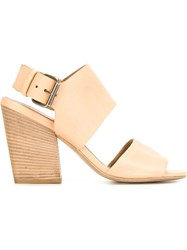 Marsa Ll Chunky Heel Buckled Sandals Nude And Neutrals
