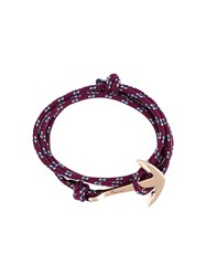 Miansai Anchor Wrap Bracelet Red