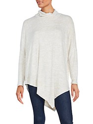 Saks Fifth Avenue Cozy Asymmetrical Pullover Charcoal