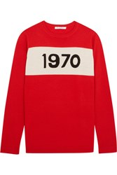 Bella Freud 1970 Intarsia Wool Sweater Red