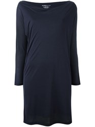 Majestic Filatures Longsleeved Fitted Dress Blue