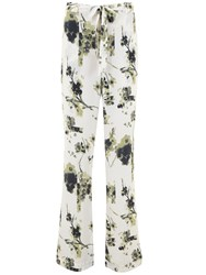 Mint Velvet Elle Print Soft Flare Trousers Multi