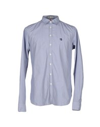 Franklin And Marshall Shirts Shirts Men Dark Blue