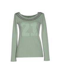 Duck Farm Topwear Sweatshirts Women Light Green