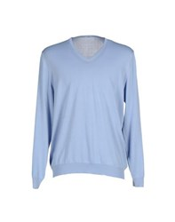 Malo Knitwear Jumpers Men Sky Blue