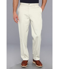 Dockers Signature Khaki D4 Relaxed Fit Flat Front Cloud Men's Dress Pants White