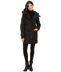 Rainforest Trench With Knit Detailing Black Women's Coat