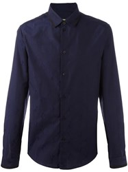 Versace Jeans Embroidered Logo Shirt Blue