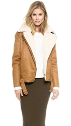 Glamorous Faux Shearling Jacket Brown