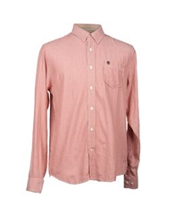 Timberland Long Sleeve Shirts Rust