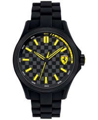 Scuderia Ferrari Men's Pit Crew Black Silicone Bracelet Watch 46Mm 830156