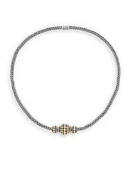 John Hardy Dot Sterling Silver And 18K Yellow Gold Necklace Silver Gold
