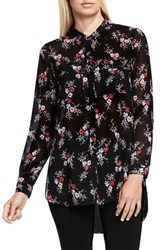 Vince Camuto Women's Two By Bouquet Ditsy Collared Tunic Blouse