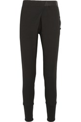 Ann Demeulemeester Wool Blend Crepe Tapered Pants Black