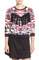 Women's Minkpink 'Mirror Mirror' Fringe Sweater