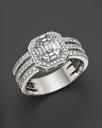 Bloomingdale's Fancy Cut Diamond Ring In 18K White Gold .85 Ct. T.W.