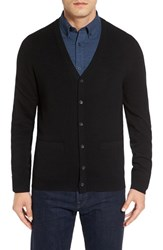 Nordstrom Men's Big And Tall Men's Shop Cashmere Cardigan Black Caviar