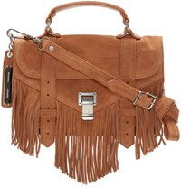 Proenza Schouler Tan Ps1 Fringe Tiny Satchel