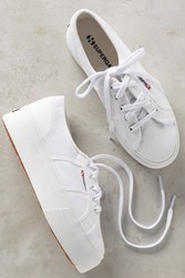Anthropologie Superga Platform Sneakers White