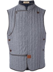 Al Duca D'aosta 1902 Sleeveless Quilted Gilet Grey