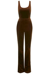 Arnold Velvet Dungarees By Unique Brown