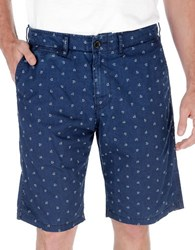 Lucky Brand Patterned Chino Shorts Blue