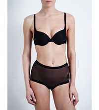 Wolford Tulle Underwired Push Up Bra Black