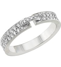 Chaumet Liens Xs 18Ct White Gold And Diamond Wedding Band