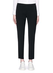 Vince 'Easy' Elastic Back Waist Crepe Pants Black
