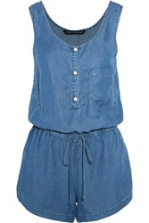 W118 By Walter Baker Jessie Chambray Playsuit Blue