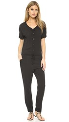 Wildfox Couture Solid Black Travel Jumpsuit