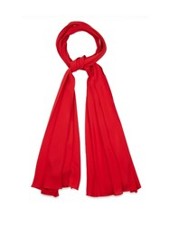Gucci Silk Crepe Narrow Scarf Red