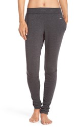 Alo Yoga Women's 'Yen' Mesh Inset Ribbed Sweatpants Charcoal Heather