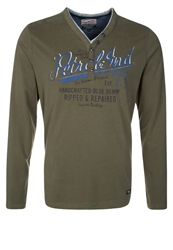 Petrol Industries Long Sleeved Top Army Green Oliv
