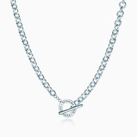 Tiffany And Co. Toggle Necklace In Sterling Silver.