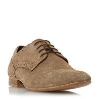 Linea Brownies Punch Hole Detail Derby Shoe Taupe