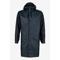 Rains Women's Navy Long Hooded Mac
