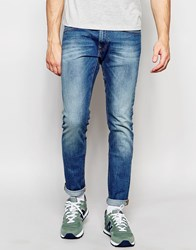 Lee Jeans Luke Skinny Fit Stretch Authentic Blue Mid Wash Blue