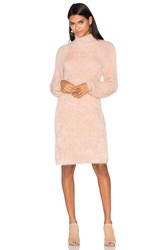 Minkpink Soft Serve Sweater Dress Beige