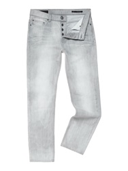Label Lab Everitt Taper Leg Washed Denim Jean Light Grey